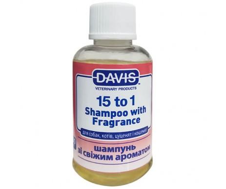 Davis 15to1 Shampoo Fresh Fragrance 15:1 шампунь с ароматом свежести для собак, котов, концентрат