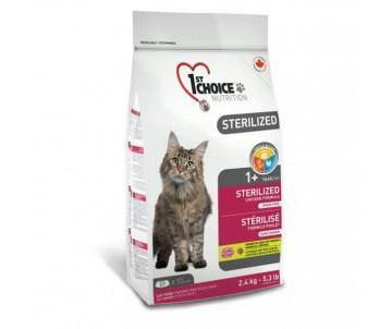 1st Choice Sterilized Chicken Стерилайзид сухой корм для кастрированных котов и стерилизованных кошек