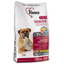 1st Choice Dog Senior Sensitive Skin Coat Lamb Fish