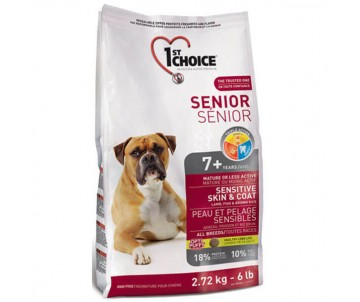 1st Choice Senior Sensitive Skin&Coat Lamb&Fish Ягня рыба сухой корм для пожилых или малоактивных собак