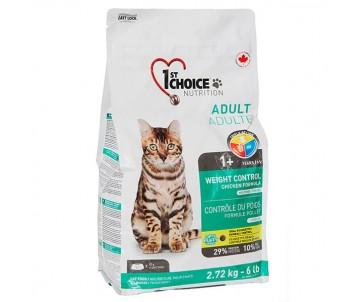 1st Choice Weight Control Adult Контроль веса сухой корм для кошек, склонных к полноте