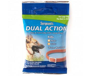Sergeants Dual Action ошейник от блох и клещей для собак