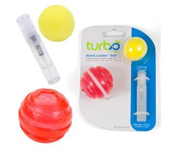 Coastal Turbo Scent Locker Ball игрушка для котов, мяч круглый красный, комплект, с кошачьей мятой