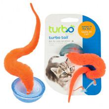 Coastal Turbo Tail Pop Up интерактивная игрушка для котов, прыгающая, оранжевый хвост в полусфере