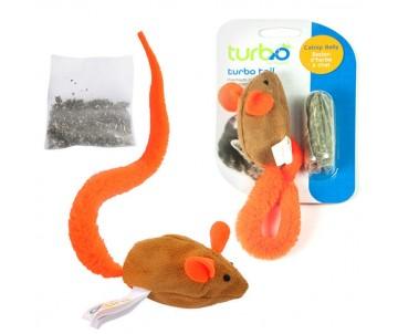 Coastal Turbo Tail Mouse Catnip интерактивная игрушка для котов, оранжевый хвост, кошачья мята, ткань