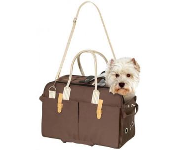 Flamingo Boston сумка переноска для собак, с карманами и вентиляцией
