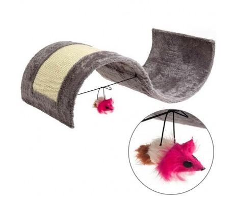 Flamingo Kitty Wave ФЛАМИНГО когтеточка для котов с игрушкой, волна