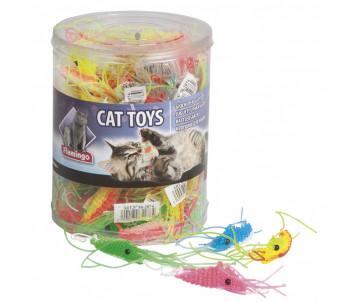 Flamingo PLASTIC SHRIMP игрушка для кошек, креветка