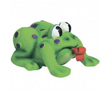 Flamingo Frog Pop-Up Tongue игрушка для собак и щенков, лягушка с языком