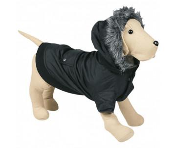 Flamingo Polar Black одежда для собак, куртка с капюшоном
