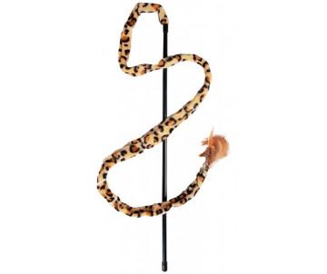 Flamingo Leopard Fishing Rod игрушка удочка для котов с перьями и колокольчиком
