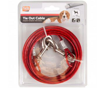 Flamingo Tie Out Cable поводок для собак до 15 кг