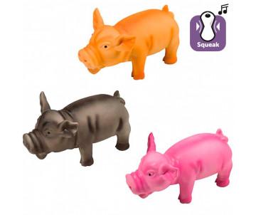 Flamingo Swine игрушка для собак, поросенок хрюкающий
