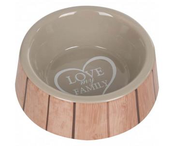 Flamingo Shabby Chic Bowl Heart миска для собак