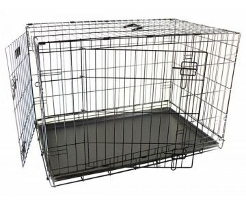 Flamingo Wire Cage Ebo Taupe 2-х дверная клетка для собак
