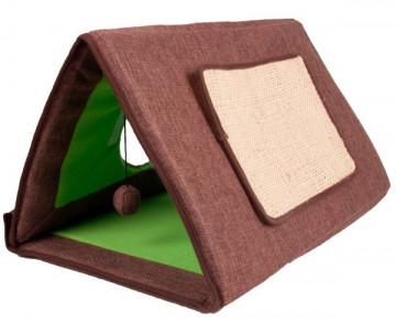 Flamingo Cat Tent 3in1 спальное место, палатка-домик когтеточка для котов 3в1