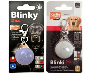 Flamingo Blinki Disc светящийся брелок безопасности для собак