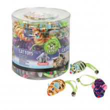 Flamingo MOUSE SPIRAL игрушка для кошек, спиральная мышка с кошачьей мятой