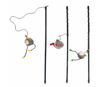 Flamingo ROD WITH MOUSE игрушка для кошек, удочка дразнилка с мышкой