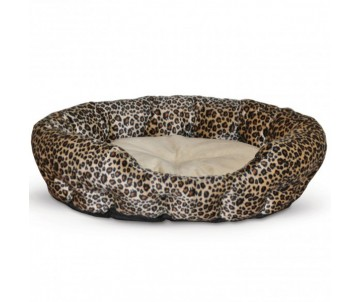 K&H Nuzzle Nest самосогревающий лежак для собак и котов, леопард