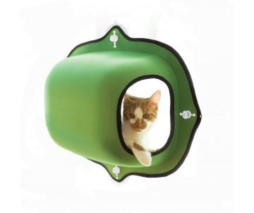 K&H EZ Mount Window Pod спальное место-домик на окно для котов, зеленый