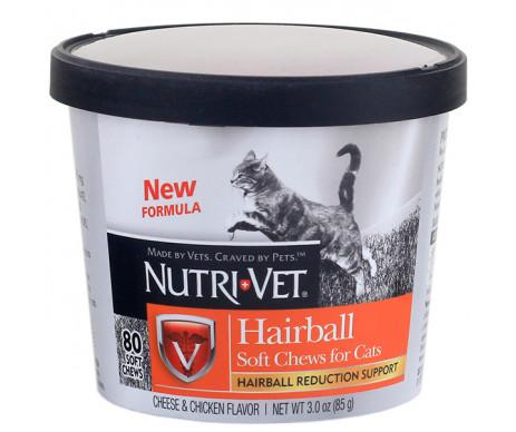 Nutri-Vet Hairball Soft Chews жевательные таблетки для выведения шерсти котов