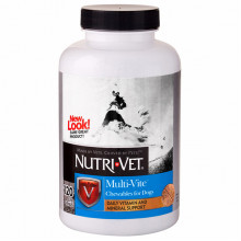Nutri-Vet Multi-Vite мультивитамины для собак, жевательные таблетки