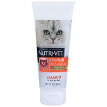 Nutri-Vet Hairball Salmon Гель для выведение шерсти для кошек, лосось