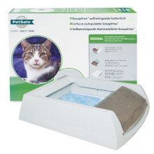 PetSafe ScoopFree автоматический туалет для котов, в комплекте силикагелевый наполнитель