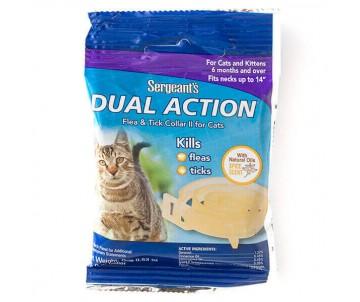 Sergeants Dual Action ошейник от блох и клещей для котов