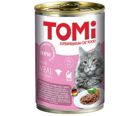 TOMi Cat Adult beef veal in gravy