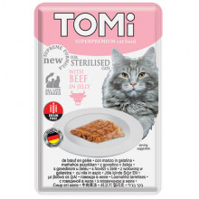 TOMi Cat Adult Sterilised Beef in Jelly