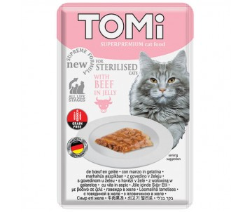 TOMi Cat Sterilised Beef in Jelly