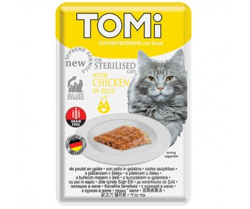 TOMi Cat Sterilised Chicken in Jelly