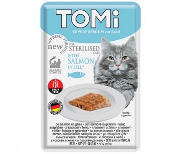 TOMi Cat Sterilised Salmon in Jelly