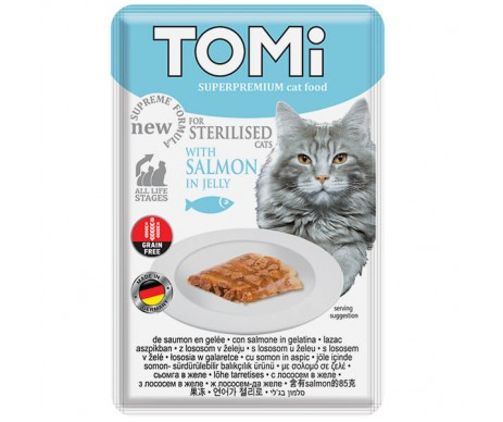 TOMi Cat Sterilised Salmon in Jelly