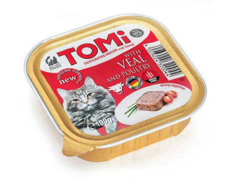 TOMi Cat Adult veal poultry pate