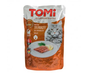 TOMi Cat Turkey in spinach jelly