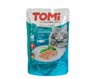 TOMi Cat salmon in egg jelly