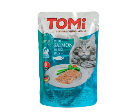 TOMi Cat Adult salmon in egg jelly