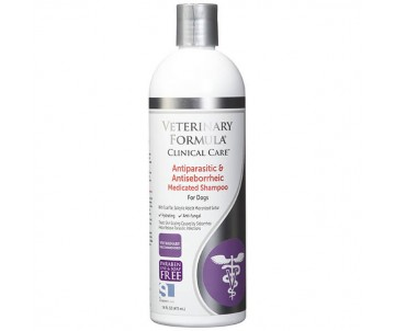 Veterinary Formula Clinical Care Antiparasitic&Antiseborrheic Medicated Shampoo антипаразитарный и антисеборейный шампунь для собак