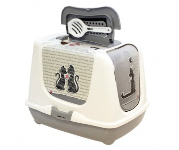 Moderna Trendy Cat Cats in Love закрытый туалет для котов c угольным фильтром и совком