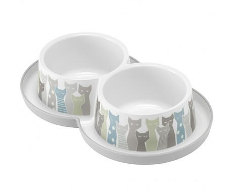 Moderna Double Trendy двойная миска для кошек, защита от муравьев