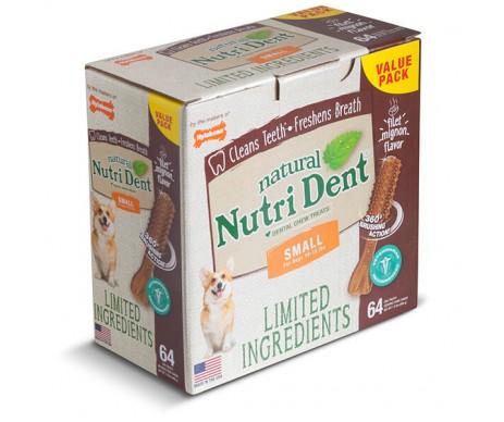 Nylabone Nutri Dent Natural натуральное жевательное лакомство для чистки зубов для собак филе миньон, цена за 1 шт