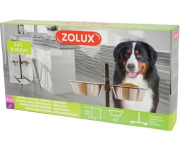 ZOLUX Набор из 2 мисок + регулируемая стойка
