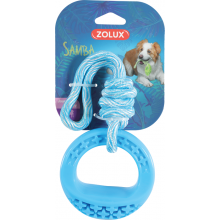 ZOLUX TPR SAMBA Игрушка для собак круглая с нитью синяя