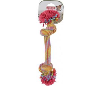 ZOLUX Канат игрушка 2 разноцветных узелка для собак