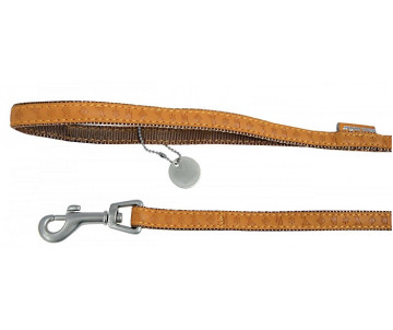 ZOLUX Mac Leather Yellow поводок кожаный для собак