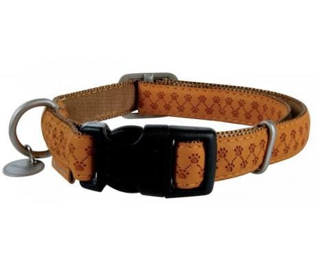ZOLUX Mac Leather Yellow ошейник желтый кожаный для собак