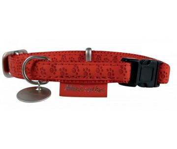ZOLUX Mac Leather Red ошейник кожаный для собак